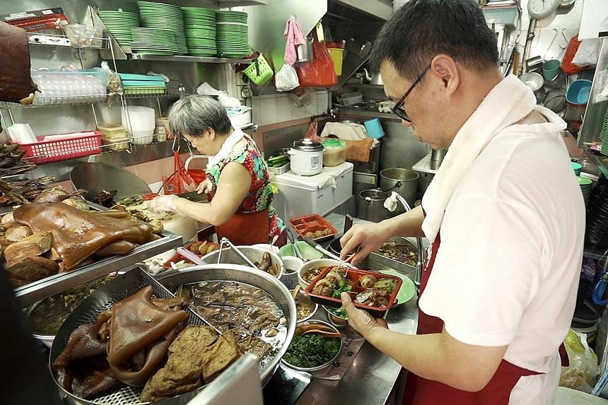 Hawker Melvin Chew and his mother, Madam Lim Bee Hong, are featured in A Day In The Kitchen, one of three online video series from The Straits Times that made it to a list celebrating quality local public service broadcast programmes produced and sho