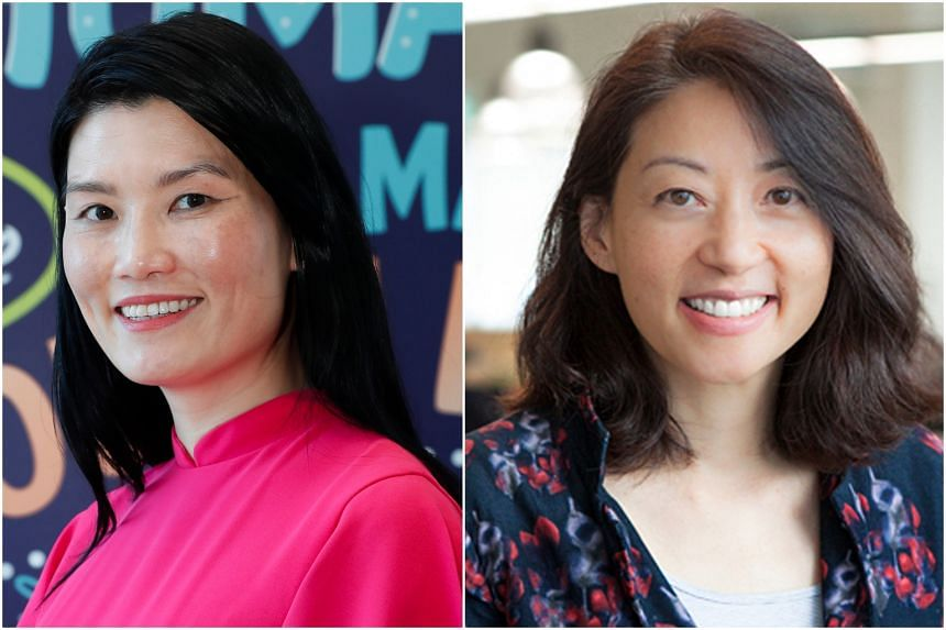 NVPC chief executive Melissa Kwee (left) and CXA group chief executive Rosaline Chow Koo. The sum raised will be donated to the Community Chest of Singapore.