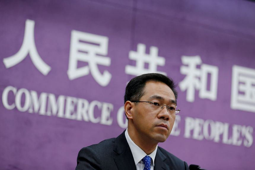 Mr Gao Feng, spokesman at China's Commerce Ministry, said tariffs must be lowered for there to be a phase one trade agreement with the US.