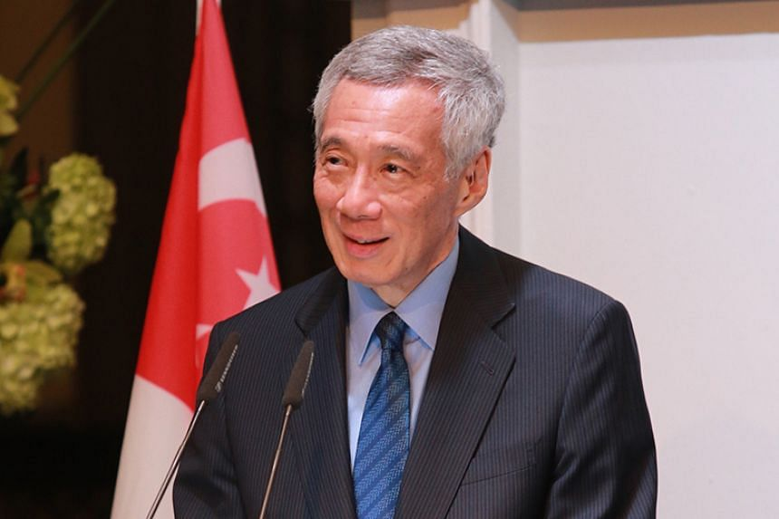 Prime Minister Lee Hsien Loong speaking at the Singapore Cricket Club's Visitor's Dinner on Dec 5, 2019.