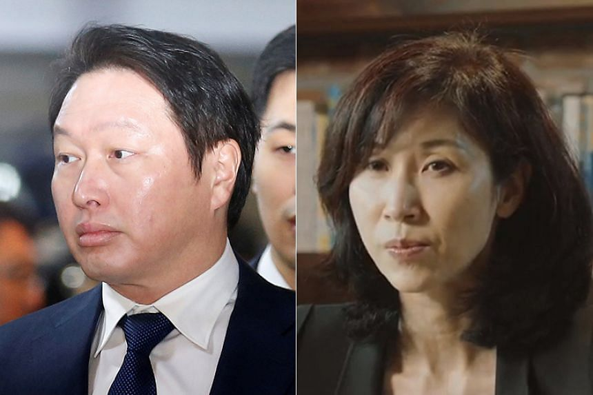 Ms Roh Soh-yeong, the wife of SK Group chairman Chey Tae-won, filed a lawsuit demanding 42.3 per cent of his stake in SK Holdings.