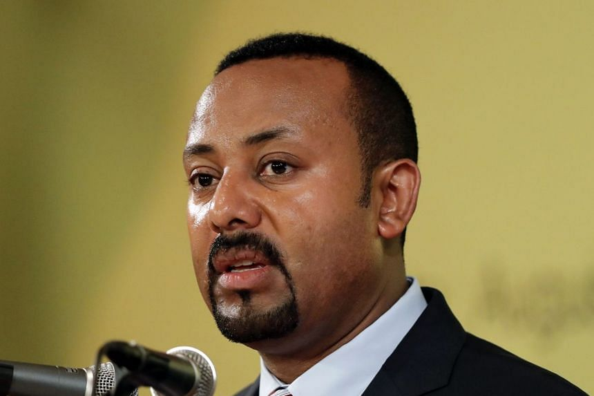Ethiopia's prime minister Abiy Ahmed (above) has rarely given interviews since taking office.