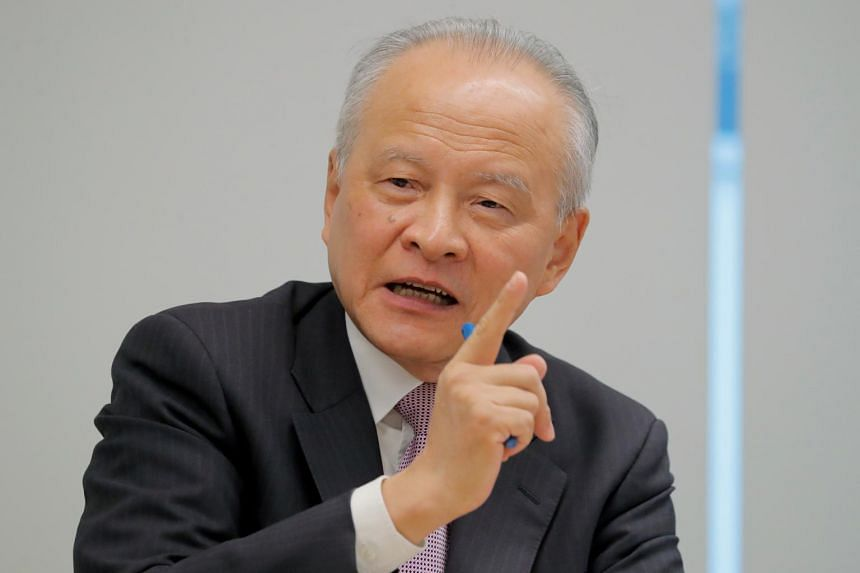 China's envoy to the US,  Cui Tiankai, during an interview on Nov 6, 2018.