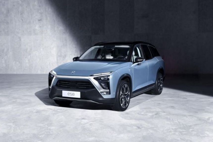 NIO's existing models are the ES8 (pictured) and ES6 SUVs, and the EP9 performance car.