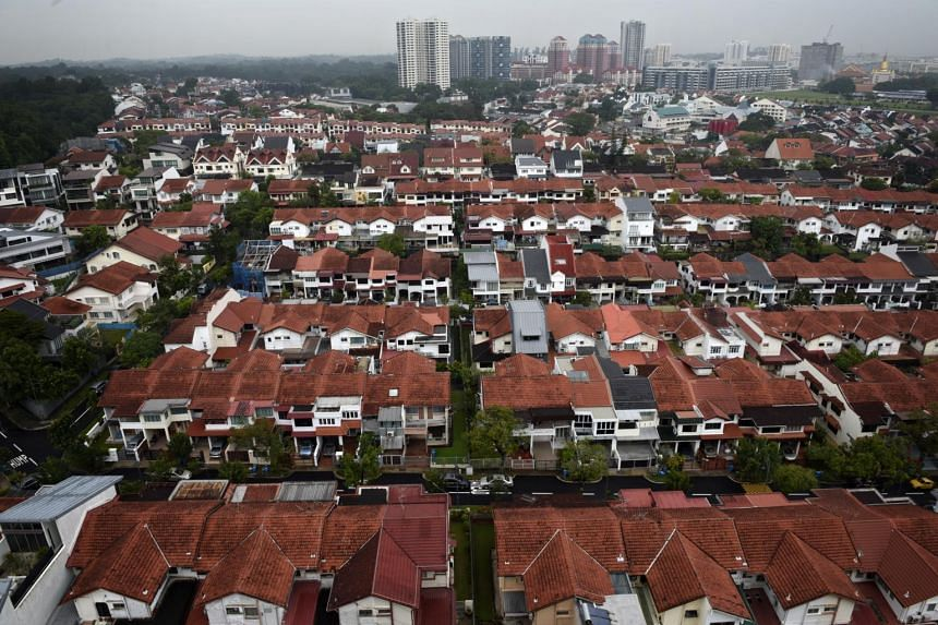 An aerial view of the private estates in the Upper Thomson area, including the areas around Yew Lian Park.