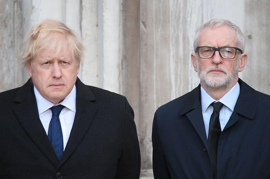 Although Prime Minister Boris Johnson (left) is regarded as much more credible than Jeremy Corbyn, the far-left leader of Labour, neither is particularly popular.