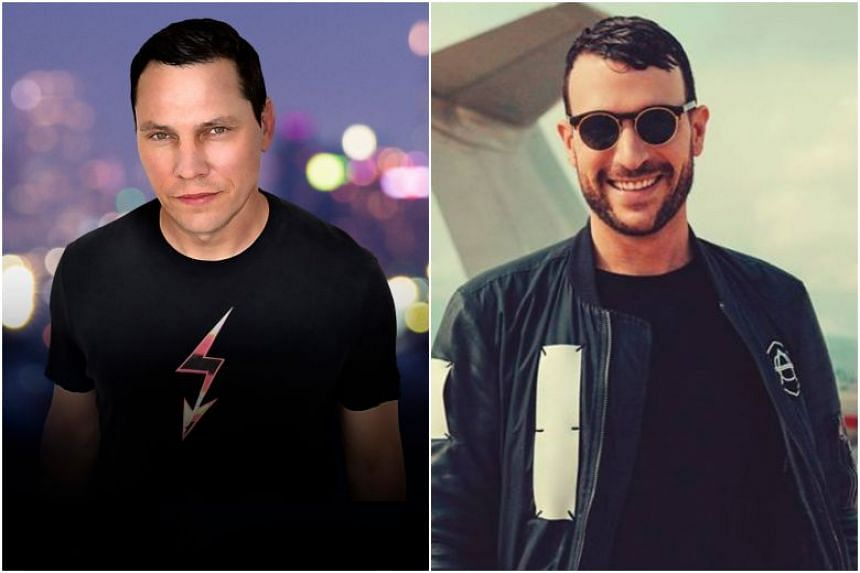 Juggernaut DJs Tiesto (left) and Don Diablo are set to headline the new two-day dance music festival Legacy, which will be held on Sentosa's Siloso Beach on Dec 6 and 7, 2019.