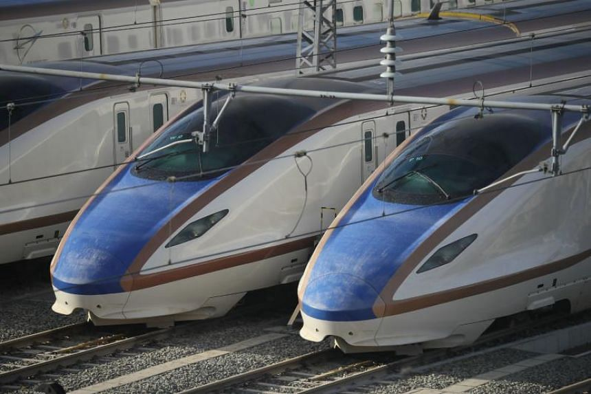Shinkansen bullet trains in Nagano, Japan. The new government of Maharashtra is reviewing a multibillion-dollar bullet train project, which India is developing in collaboration with Japan.