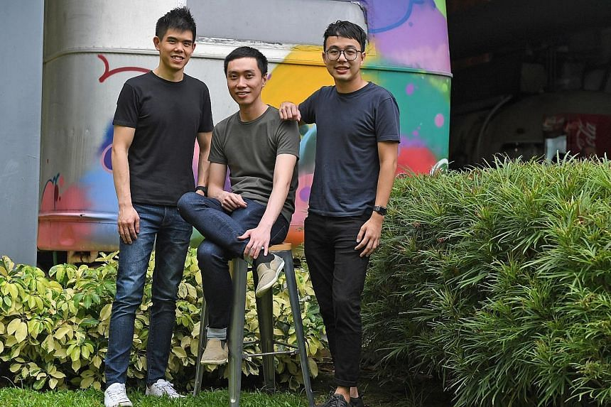 Carousell founders (from left) Quek Siu Rui, Lucas Ngoo and Marcus Tan started the online marketplace in 2012, inspired by their internships in Silicon Valley start-ups while studying at the National University of Singapore.
