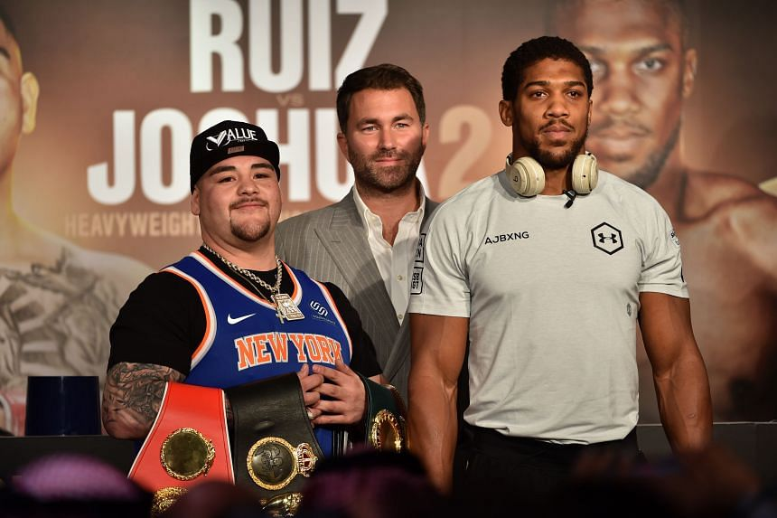 For the rematch, Anthony Joshua (right) has invested heavily in quality sparring partners, hiring boxers of similar stature to Andy Ruiz to prepare for the fast-handed Mexican-American.
