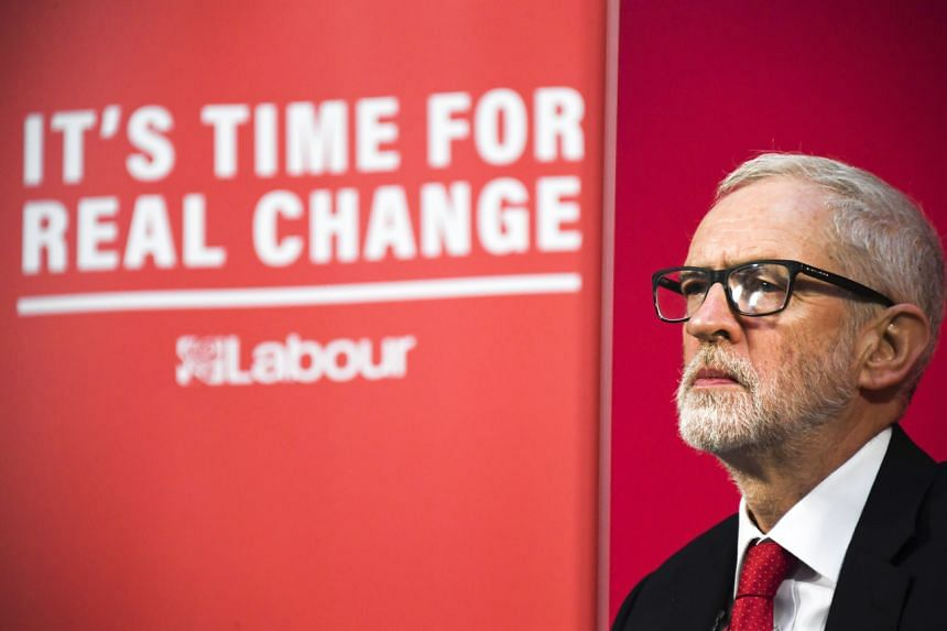 Britain's Labour Party leader Jeremy Corbyn speaks during a press conference in London on Dec 6, 2019.