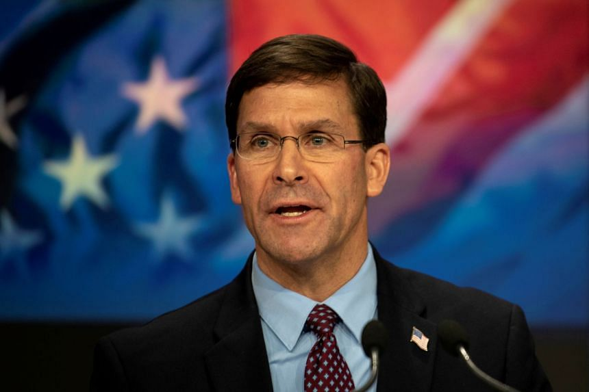 Esper (above) outlined his strategic goals and priorities in a speech at the Reagan National Defence Forum.