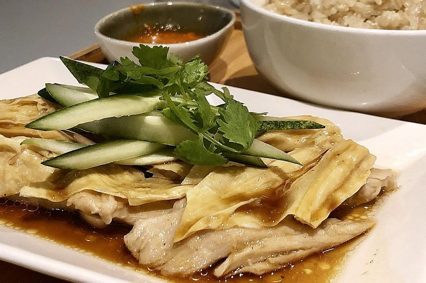Plant-based Hainanese chicken rice from Prive Tiong Bahru.