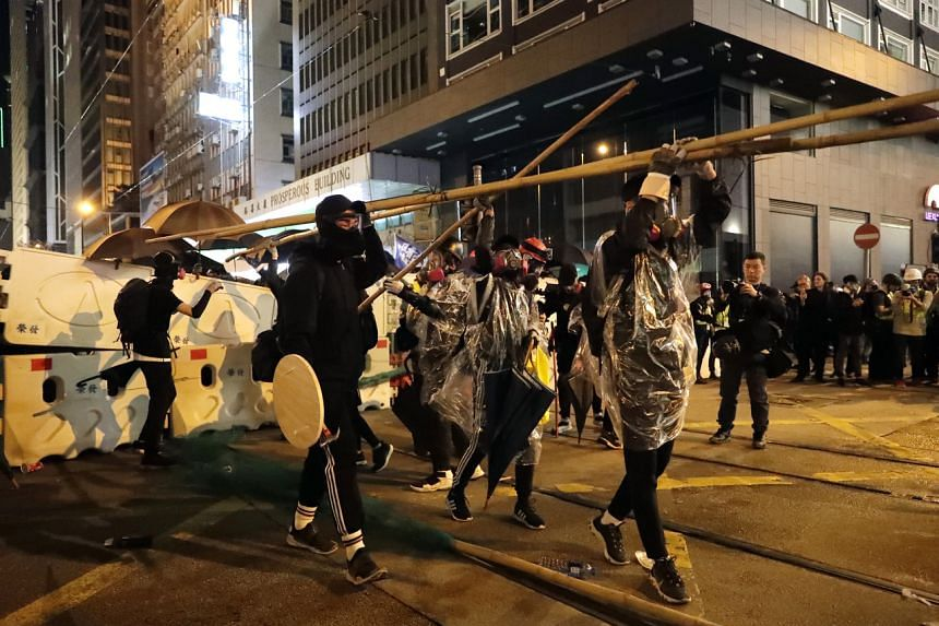 Protesters in Hong Kong on Dec 8, 2019.