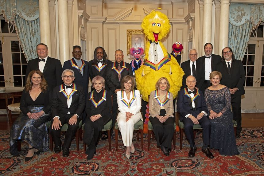 Sesame Street stars pose with colleagues at the Kennedy Center 2019