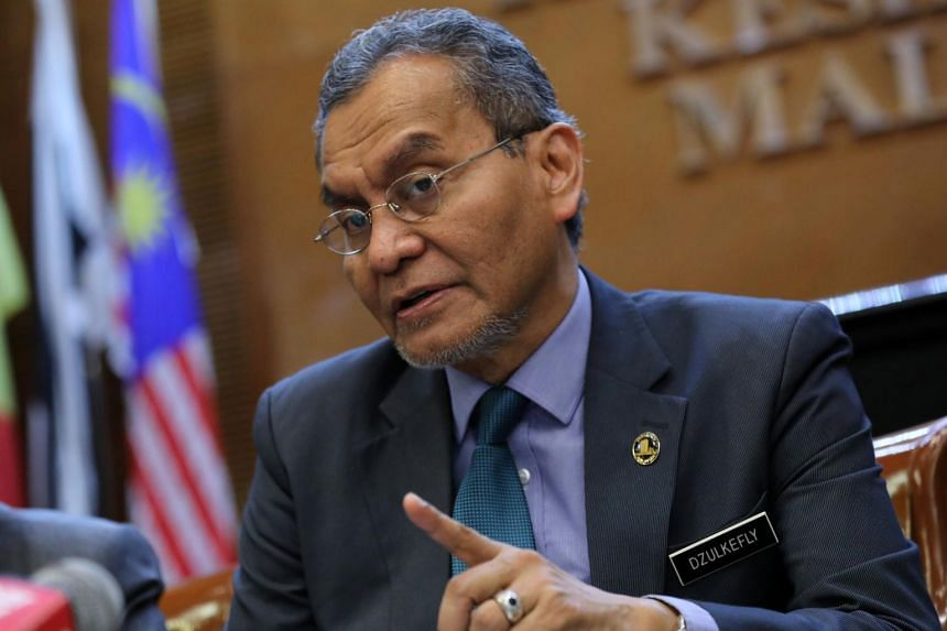 Malaysia's Health Minister Dzulkefly Ahmad speaks during a news conference in Putrajaya, on Dec 9, 2019.