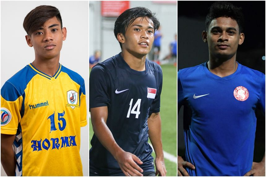The Football Association of Singapore said that (from left) Shah Shahiran, Hami Syahin and Saifullah Akbar will face disciplinary measures along with the other six players.