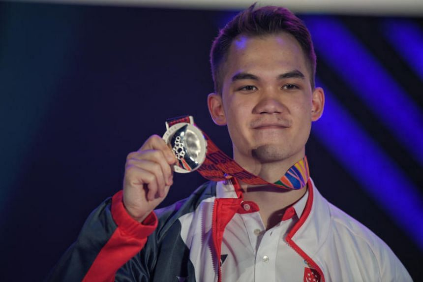 Thomas Kopankiewicz with his silver medal after the Starcraft II finals in Manila on Dec 10, 2019.