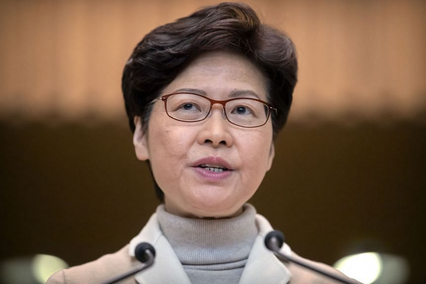 Hong Kong leader Carrie Lam was speaking two days after the largest anti-government rally in Hong Kong since local elections last month.