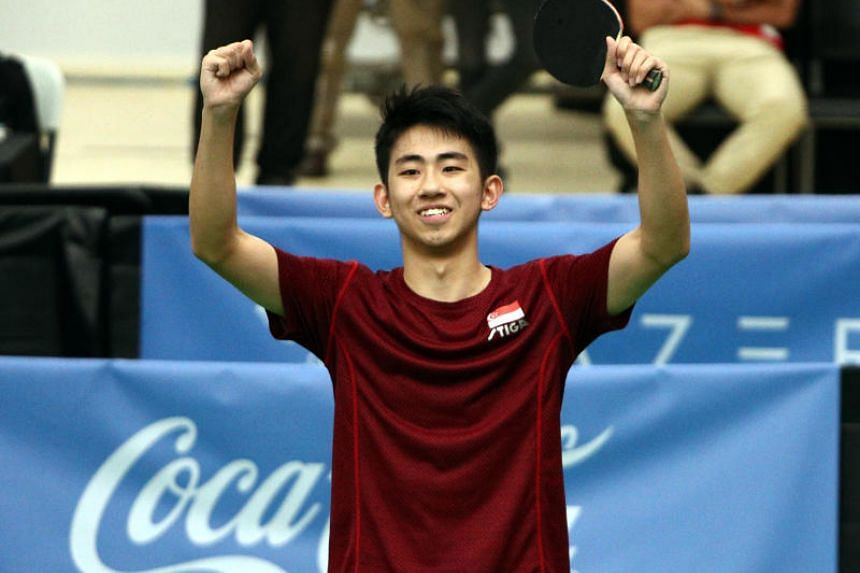 Koen Pang became the first Singapore man to pick up the table tennis men's singles gold medal on Dec 10, 2019.