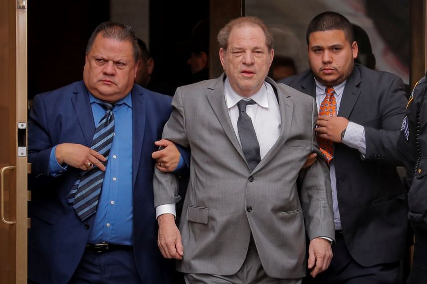 Weinstein exits following a hearing in his sexual assault case in New York, Dec 6, 2019.