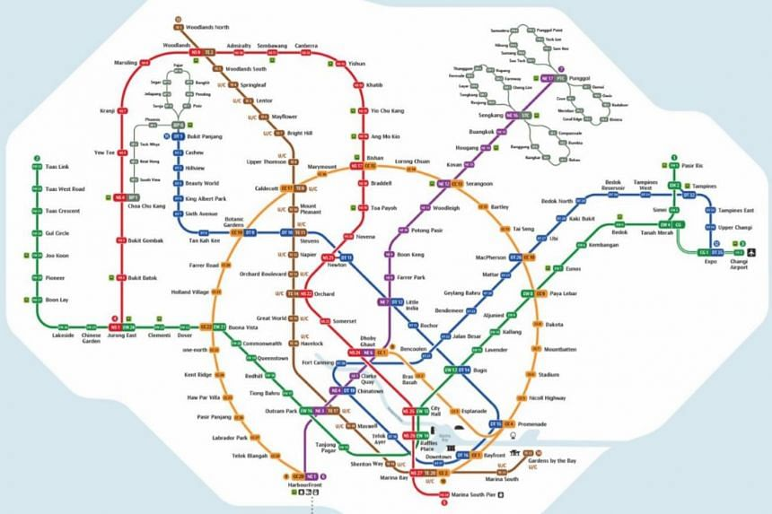 A new, more user-friendly map of the MRT system was unveiled at the new Woodlands South station, with improved readability of the station names, among other things.