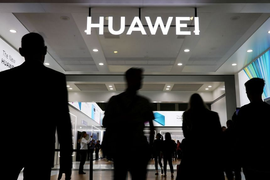 The Huawei logo is pictured at the IFA consumer tech fair in Berlin, in September 2019.