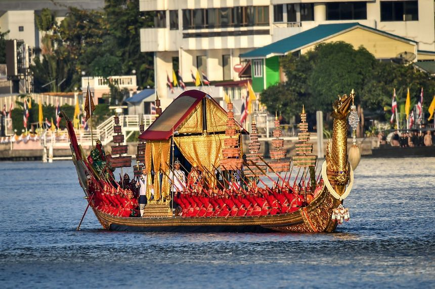 The elaborate 45-minute procession was the final event marking the coronation of Thai King Maha Vajiralongkorn, who was crowned in May.