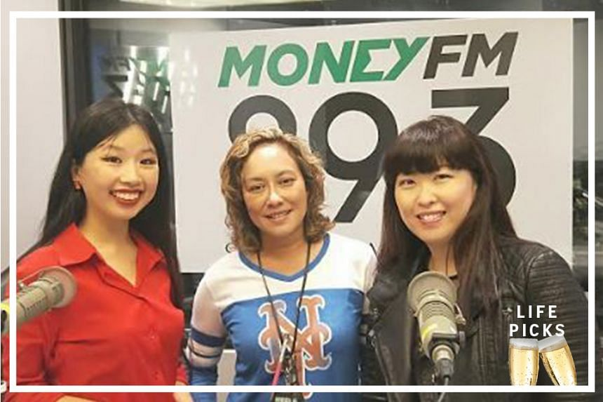 Money FM's Claressa Monteiro (centre) chats with ST arts correspondent Olivia Ho (left) and STFood Online editor Hedy Khoo (right) about their picks for the week.
