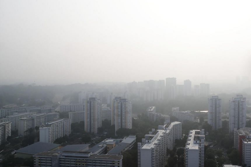 In a photo taken on Sept 24, 2019, the haze is seen in Buona Vista at 8.20am.