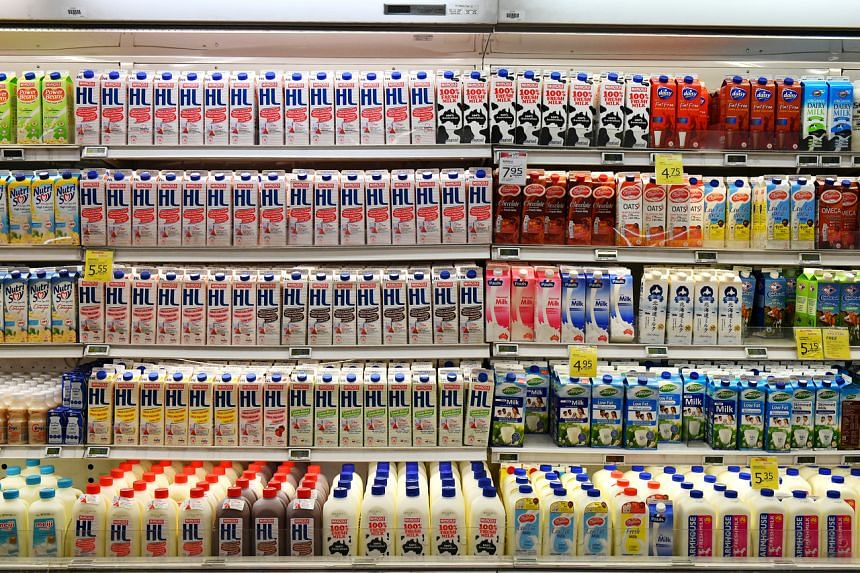 The dairy section at a supermarket at NEX on March 23, 2017.