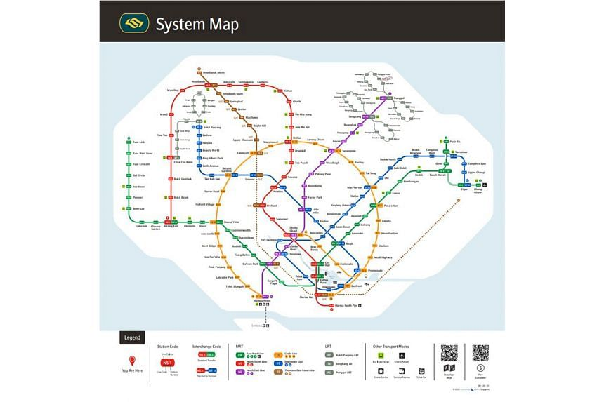 MRT navigation made easier with user-friendly map, Singapore ...