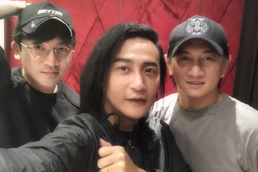 Members of the former Taiwanese boy band (from left) Alec Su, Julian Chen and Nicky Wu had a reunion dinner last month.