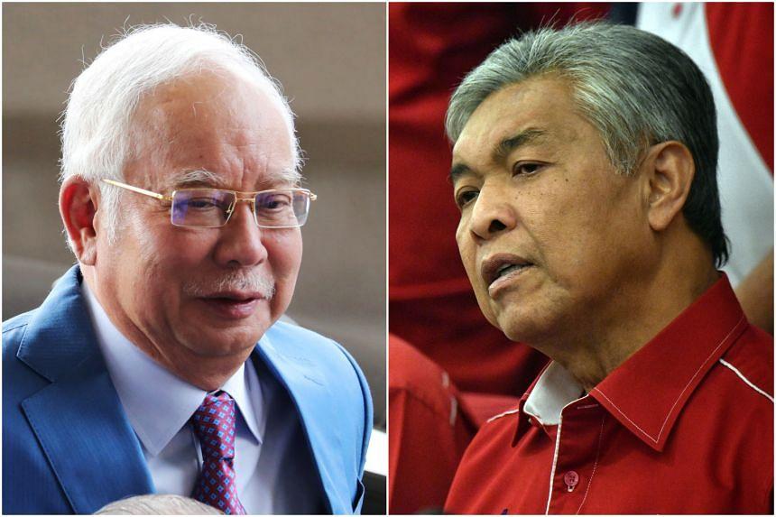 Malaysia's former prime minister Najib Razak and Umno president Ahmad Zahid Hamidi are on separate corruption and money laundering trials.