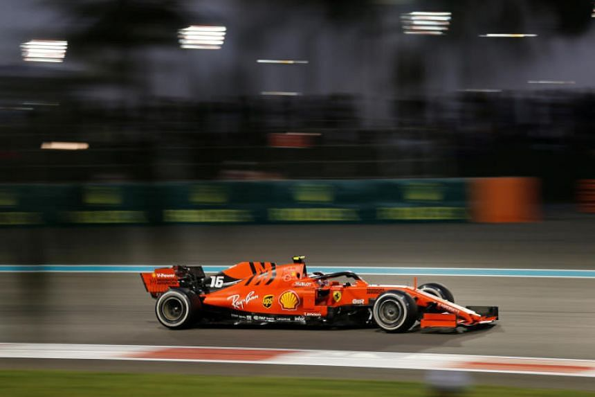 A photo taken on Dec 1, 2019, shows Ferrari's Charles Leclerc during the Abu Dhabi Grand Prix at the Yas Marina Circuit.