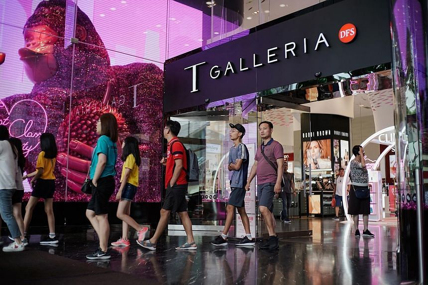DFS Group, which has been selling liquor and tobacco at Changi Airport for 38 years, chose not to renew its lease in August, although its luxury concessions such as T Galleria by DFS Singapore in Scotts Road (above) will continue. Beauty retailer Sas