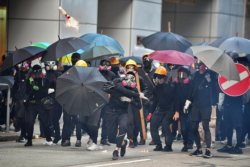 The Hong Kong protests were No. 2 in the overall trending search chart for Singapore this year. ST PHOTO: CHONG JUN LIANG Coming in third among trending searches by Google users here was the movie Avengers: Endgame. Hazy conditions in September, whic