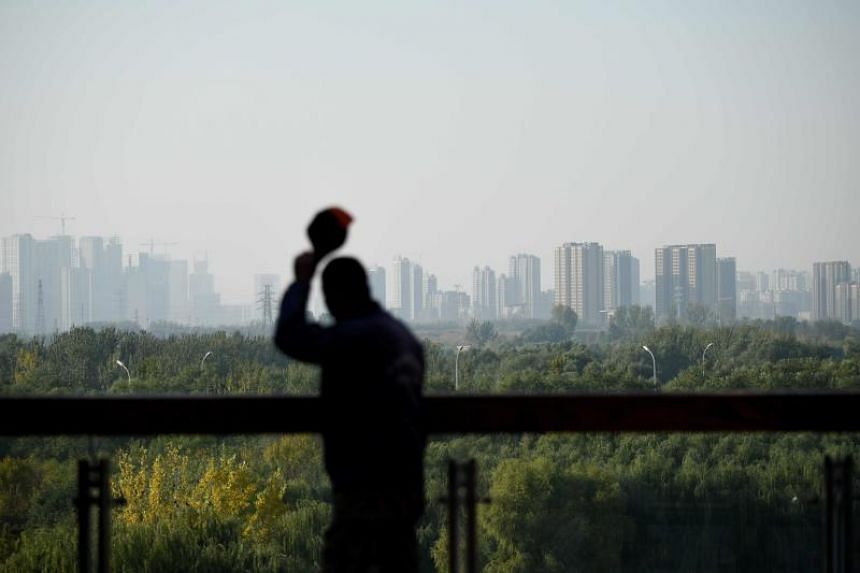 A photo taken on Oct 29, 2019 shows the skyline of Tongzhou district in Beijing.