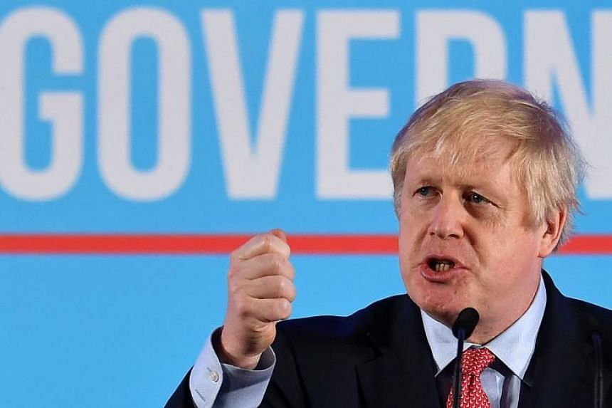British Prime Minister and leader of the Conservative Party, Boris Johnson speaks in London on Dec 13, 2019.