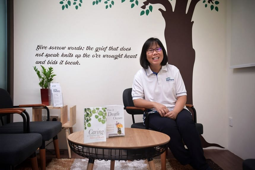 Ms Chee Wai Yee, a senior director at Montfort Care and also the programme director at the Singapore Hospice Council. Grief Matters, the first centre here to specialise in bereavement support, is run by Montfort Care.