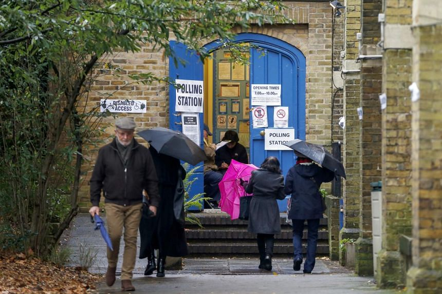 A polling station in London.