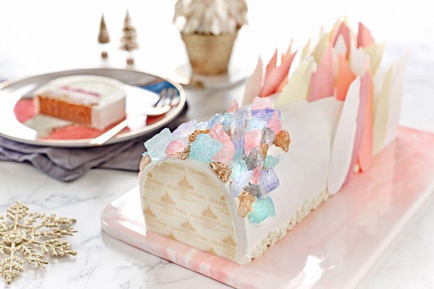 Crystal Glacier Log Cake from Goodwood Park Hotel.