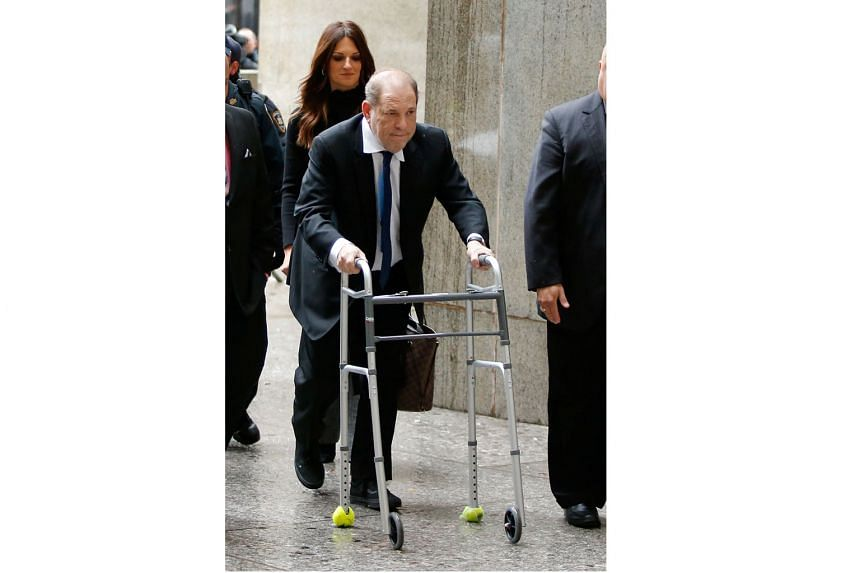 Film producer Harvey Weinstein arriving at the New York Supreme Court on Wednesday.