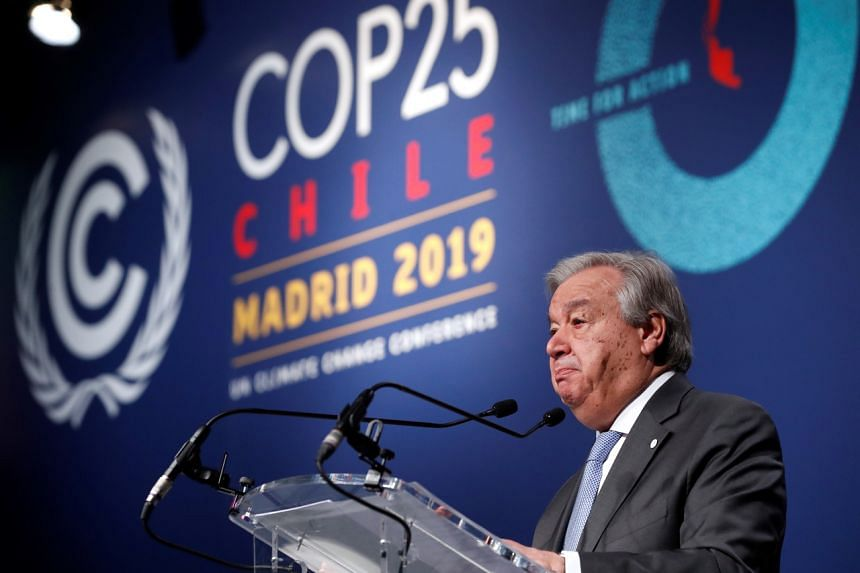 UN Secretary-General Antonio Guterres, said in Madrid on Dec 12, 2019, it was nonsense that economic growth and tackling climate change are incompatible, and added that failing to tackle global warming was a recipe for economic disaster.