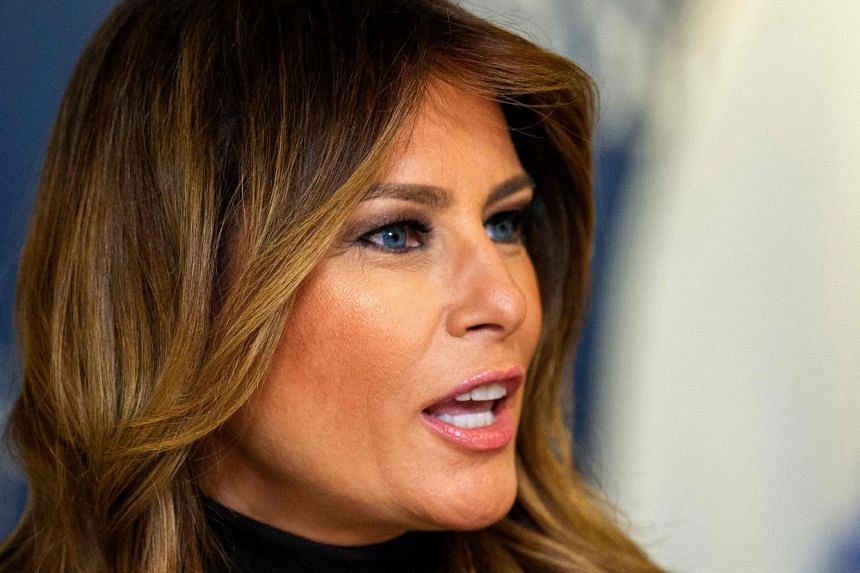 Melania Trump (above) said her 13-year-old son, Barron, is in a different category than Thunberg.
