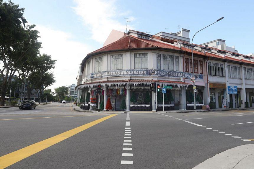 The shop occupies a street corner in Geylang.