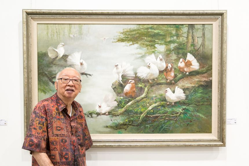 Choo Keng Kwang gained a reputation as a painter who could combine Western impressionism and rules of perspective with traditional Chinese brushwork.