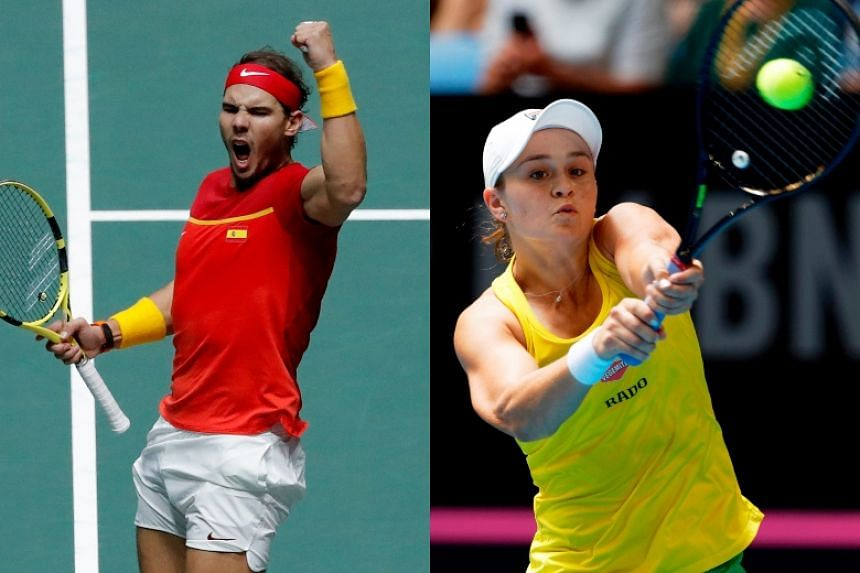 Top-ranked Rafael Nadal and Ashleigh Barty lead the field at the 115th edition of the Australian Open.