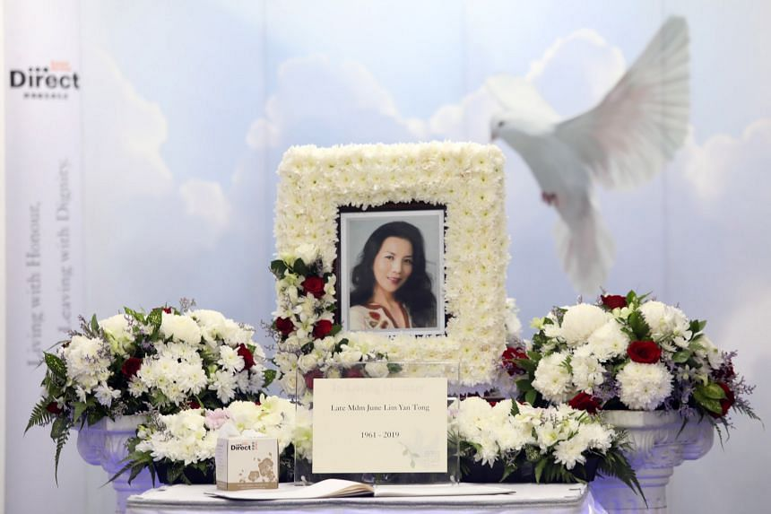 A memorial for Lin Liyun at her wake on Dec 15, 2019.