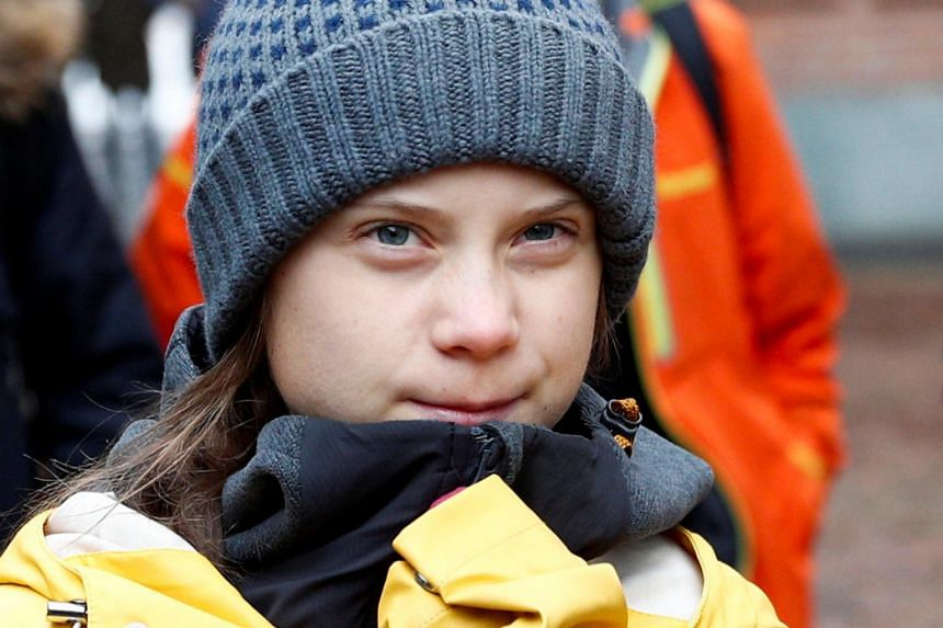 Greta Thunberg told the crowd in Turin that world leaders were running away from their responsibilities to fight climate change.